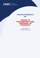COVID-19 prevention and control in schools