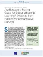 Are educators setting goals for social-emotional learning? Evidence from nationally representative surveys