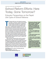 School reform efforts: here today, gone tomorrow? Educator perspectives on the rapid life cycle of school reforms