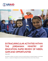 Extracurricular activities within the Jordanian Ministry of Education: rapid review of needs, gaps and opportunities