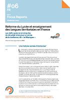 Réforme du Lycée et enseignement des langues territoriales en France : les défis après la loi 2019-791 du 26 juillet 2019 pour un école de la confiance, dit « loi Blanquer »