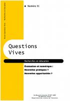 n° 31 - 2019 - Evaluation et numérique : nouvelles pratiques ? nouvelles opportunités ?