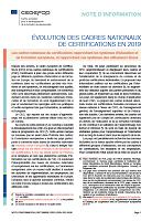 N° 9150 FR - Septembre 2020 - Évolution des cadres nationaux de certifications en 2019