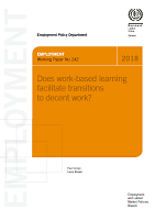 Does work-based learning facilite transitions to decent work?