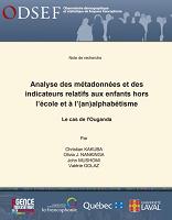 Analyse des métadonnées et des indicateurs relatifs aux enfants hors l'école et à l'(an)alphabétisme : le cas de l'Ouganda