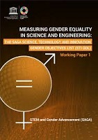 Measuring gender equality in science and engineering: the saga science, technology and innovation gender objectives list (STI GOL)