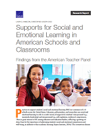 Supports for social and emotional learning in American schools and classrooms: findings from the American teacher panel