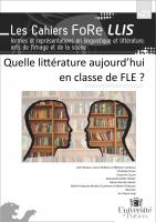- décembre 2020 - Quelle littérature aujourd'hui en classe de FLE ?