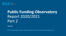 Public funding observatory 2020/2021: Part 2