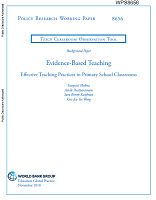 Evidence-based teaching: effective teaching practices in primary school classrooms