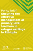 Ensuring the effective management of primary-level teachers in refugee settings in Ethiopia