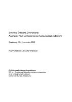 Langues, diversité, citoyenneté : politiques pour la promotion du plurilinguisme en Europe. Strasbourg 13-15 novembre 2002 : rapport de la conférence