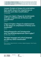 Langue d'origine et langue de scolarisation : dans quelle mesure les compétences en littéracie sont-elles transférables ? Une synthèse