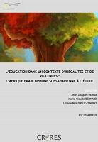 L'éducation dans un contexte d'inégalités et de violences : l'Afrique francophone subsaharienne à l'étude