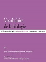 Vocabulaire de la biologie