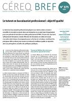 n° 375 - avril 2019 - Le tutorat en baccalauréat professionnel : objectif qualité