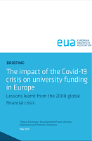 The impact of the Covid-19 crisis on university funding in Europe : lessons learnt from 2008 global financial crisis