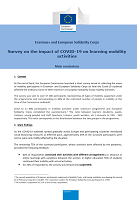 Survey on the impact of COVID-19 on learning mobility activities: main conclusions