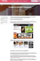 Enseigner la littérature francophone - TV5Monde