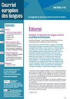 n° 43 - mai 2020 - Enseigner et apprendre les langues vivantes en période de confinement