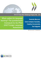 What matters for language learning? : the questionnaire framework for the PISA 2025 Foreign Language Assessment