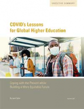COVID's lessons for global higher education: Coping with the present while building a more equitable future
