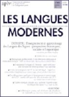 Enseignement et apprentissage des langues des signes : perspectives historiques, sociales et linguistiques : dossier
