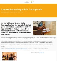 Le cartable numérique de la Francophonie