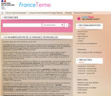 La numérisation de la finance en français