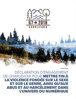 Déclaration d'engagement de Charlevoix pour mettre fin à la violence fondée sur le sexe et sur le genre, ainsi qu'aux abus et au harcèlement dans l'univers du numérique