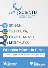 Science, technology, engineering and mathematics education policies in Europe: Scientix Observatory report