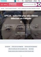 UPE2A : activités pour des élèves débutant en français - TV5MONDE