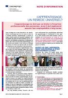 n° 9155 FR - mars 2021 - L'apprentissage : un remède universel ?