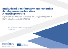 Institutional transformation and leadership development at universities: a mapping exercise: report from the innovative leadership and change management in higher education project (NEWLEAD)