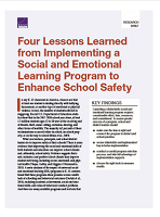 Four lessons learned from implementing a social and emotional learning program to enhance school safety