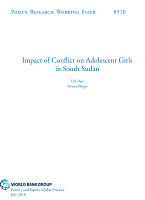 Impact of conflict on adolescent girls in South Sudan
