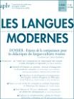 1/2020 - mars 2020 - Enjeux de la comparaison pour les didactiques des langues-cultures vivantes
