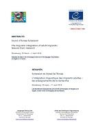 L'intégration linguistique des migrants adultes : les enseignements de la recherche Strasbourg 30 mars - 1er avril 2016