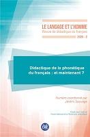 n° 2 - décembre 2020 - Didactique de la phonétique du français : et maintenant ?