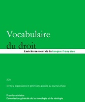 Vocabulaire du droit