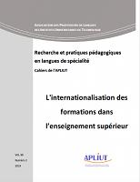 vol. 38, n° 2 - 2019 - L'internationalisation des formations dans l'enseignement supérieur