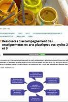Eduscol - Ressources d'accompagnement des enseignements en arts plastiques aux cycles 2 et 3