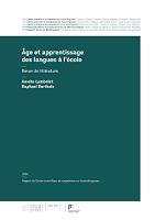 Age et apprentissage des langues à l'école : revue de littérature