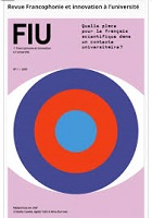 n° 1, 2019 - octobre 2019 - Quelle place pour le français scientifique dans un contexte universitaire ?