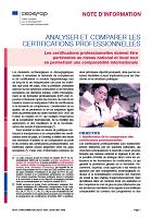 n° 9158 FR - août 2021 - Analyser et comparer les certifications professionnelles