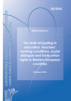 The state of funding in education teachers working conditions social dialogue and trade union rights in western european countries