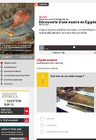 Découverte d'une momie en Égypte (exercice de FLE)