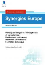 n° 15 - 2020 - Philologies françaises, francophones et européennes : fondements historiques, modernité universitaire, formation didactique