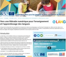 e-lang : vers une littératie numérique pour l'enseignement et l'apprentissage des langues