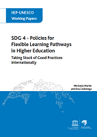 SDG 4 - Policies for flexible learning pathways in higher education: taking stock of good practices internationally